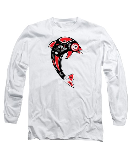 Native American Animal Dolphin Symbol Long Sleeve T-Shirt