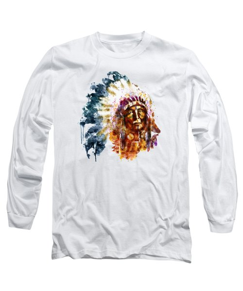 Native American Chief Long Sleeve T-Shirt