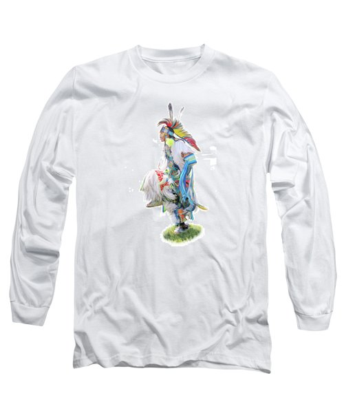 Native Pow Wow Dancer Long Sleeve T-Shirt