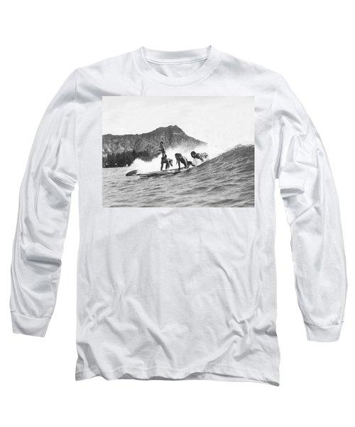 Native Hawaiians Surfing Long Sleeve T-Shirt