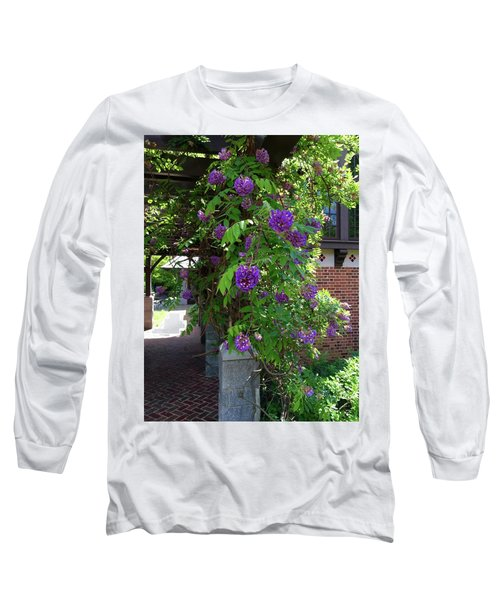 Native Wisteria Vine I Long Sleeve T-Shirt by Angela Annas