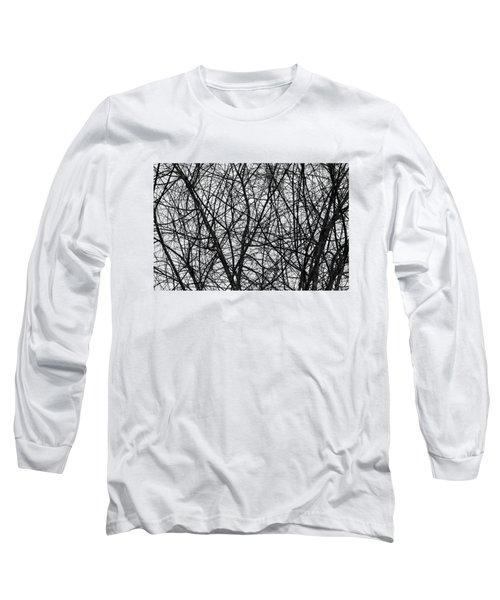 Natural Trees Map Long Sleeve T-Shirt by Konstantin Sevostyanov