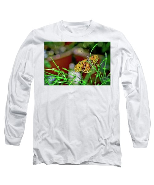 Nature - Butterfly And Plants Long Sleeve T-Shirt