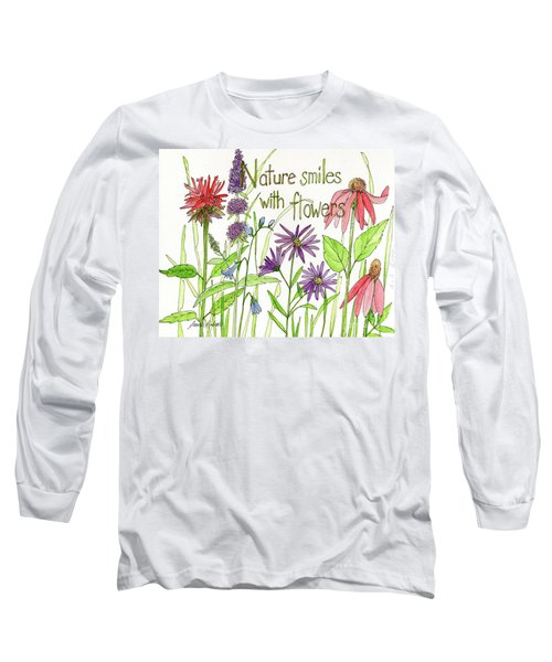 Nature Smile With Flowers Long Sleeve T-Shirt