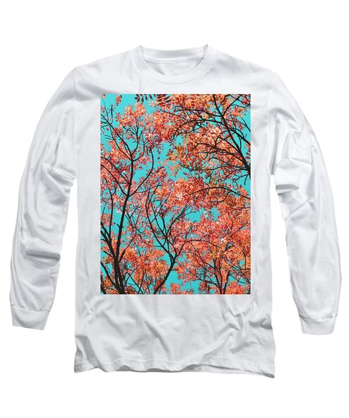 Natures Magic - Orange Long Sleeve T-Shirt by Rebecca Harman