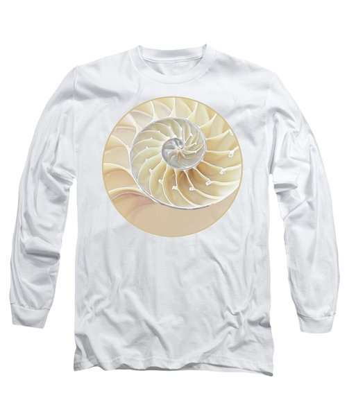 Nautilus Natural Cream Spiral Long Sleeve T-Shirt