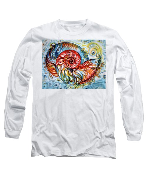 Nautilus Shell - Ocean Long Sleeve T-Shirt