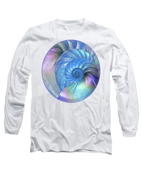 Nautilus Shells Blue And Purple Long Sleeve T-Shirt