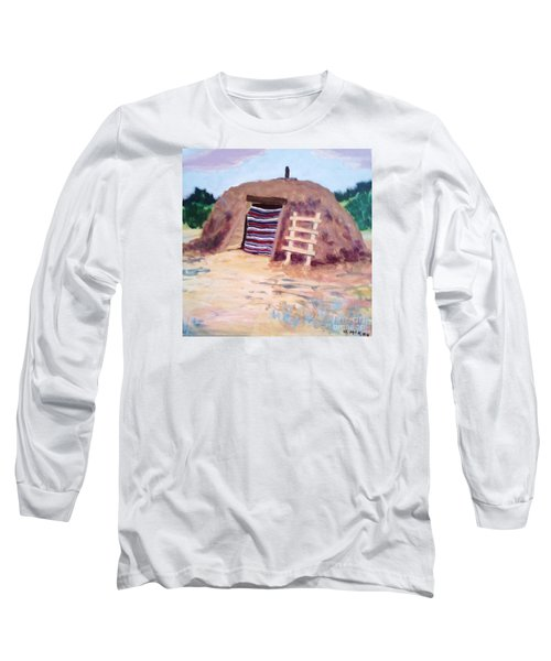 Long Sleeve T-Shirt featuring the painting Navajo Hogan by Suzanne McKay