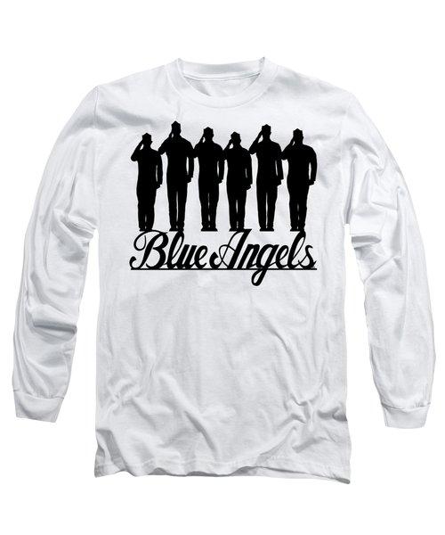 Navy Blue Angels Long Sleeve T-Shirt
