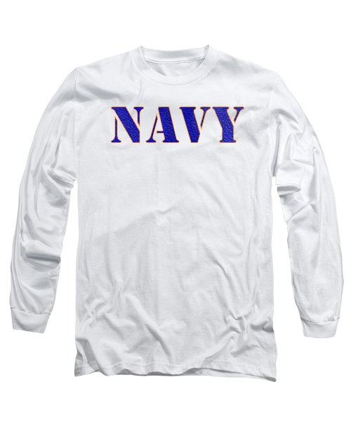 Navy Long Sleeve T-Shirt by George Robinson