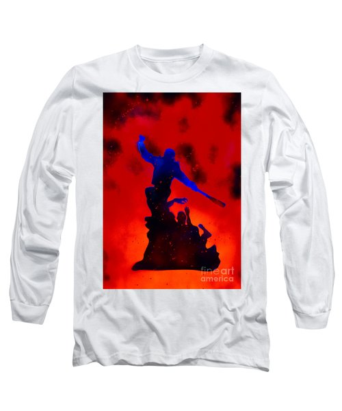 Negan Triumph  Long Sleeve T-Shirt by Justin Moore