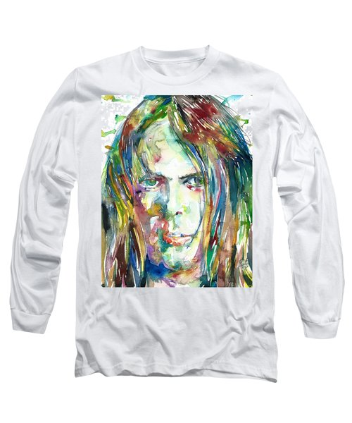 Neil Young Portrait Long Sleeve T-Shirt