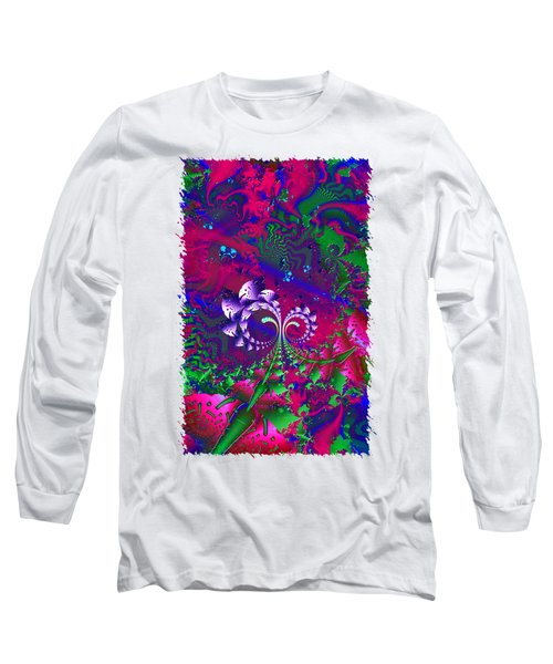 Nerd Berries Psychedelic Fractal Long Sleeve T-Shirt by Sharon and Renee Lozen