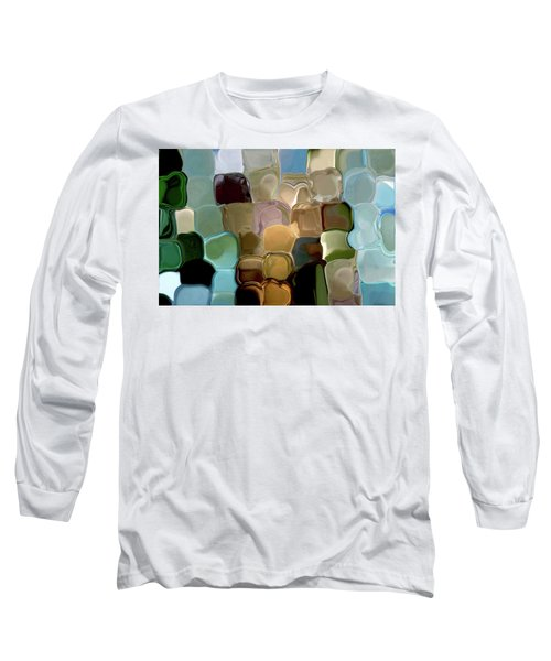 Neutrals In Light Abstract Long Sleeve T-Shirt by Haleh Mahbod