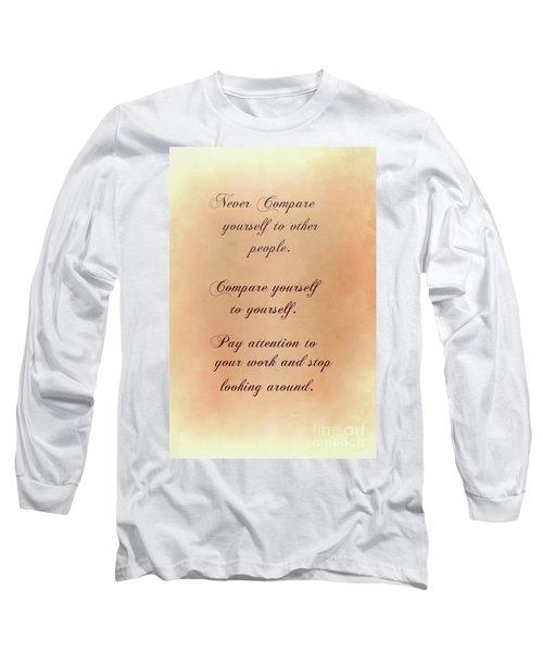 Long Sleeve T-Shirt featuring the digital art Never by Jim  Hatch