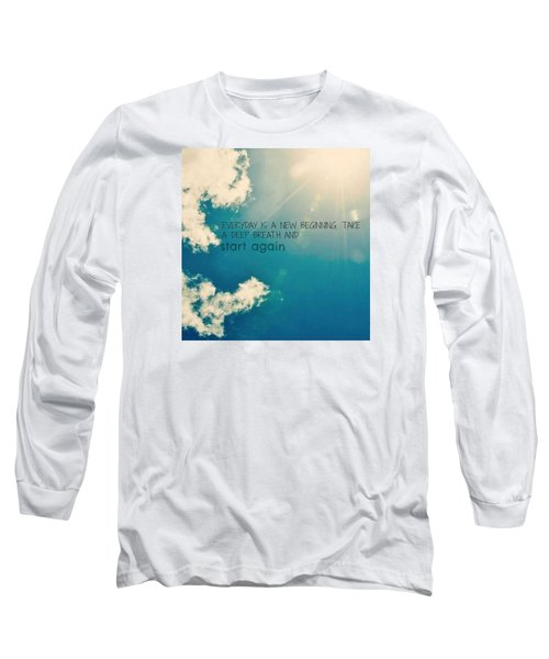 Long Sleeve T-Shirt featuring the photograph New Beginning by Artists With Autism Inc