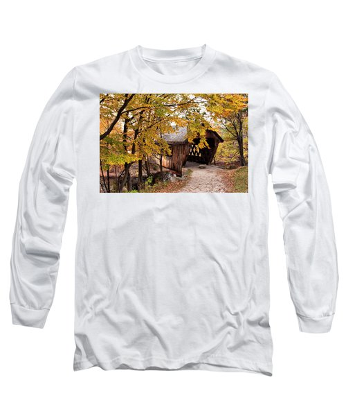 New England College No. 63 Covered Bridge  Long Sleeve T-Shirt by Betty Pauwels