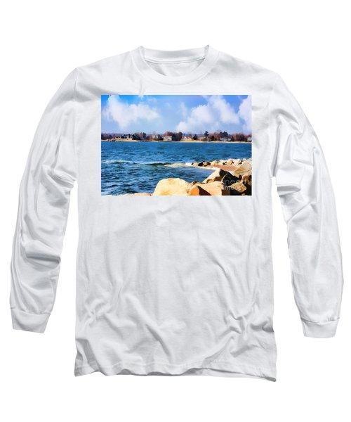 New England Shoreline - Painterly Long Sleeve T-Shirt