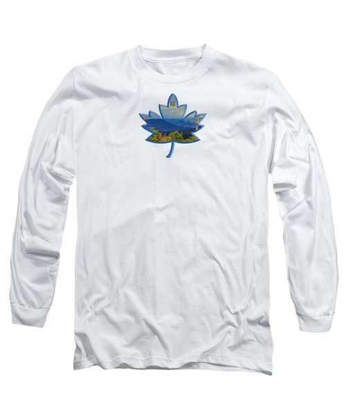 New Hampshire Maple Leaf Design Long Sleeve T-Shirt by Mim White