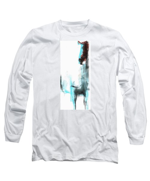 Long Sleeve T-Shirt featuring the painting New Mexico Horse Four by Frances Marino