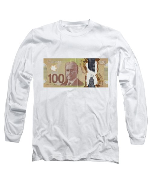 New One Hundred Canadian Dollar Bill Long Sleeve T-Shirt