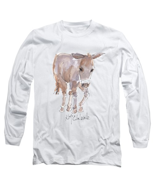 New Pasture Boss Long Sleeve T-Shirt by Kathleen McElwaine