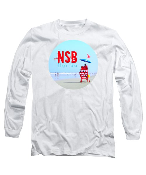 New Smyrna Beach T Shirt Long Sleeve T-Shirt by Valerie Reeves
