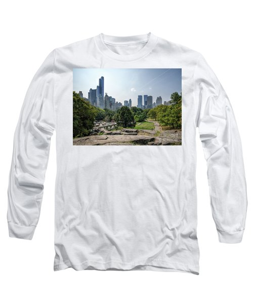 New York Central Park With Skyline Long Sleeve T-Shirt