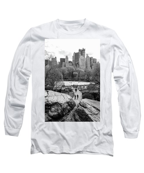 New York City Central Park Ice Skating Long Sleeve T-Shirt
