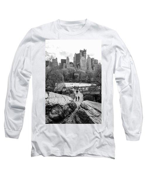 New York City Central Park Ice Skating Long Sleeve T-Shirt
