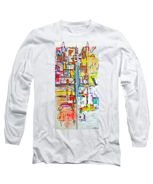 New York City Icons And Symbols Long Sleeve T-Shirt