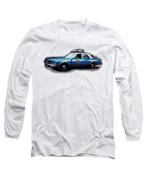 New York City Police Patrol Car 1980s Long Sleeve T-Shirt by Tom Conway