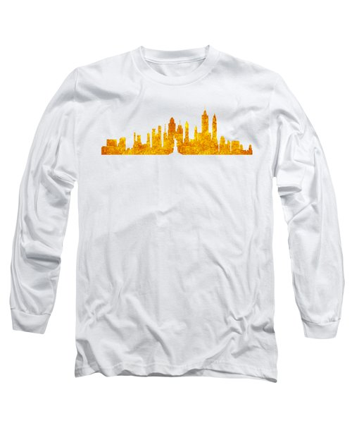 New York, Golden City Long Sleeve T-Shirt by Anton Kalinichev