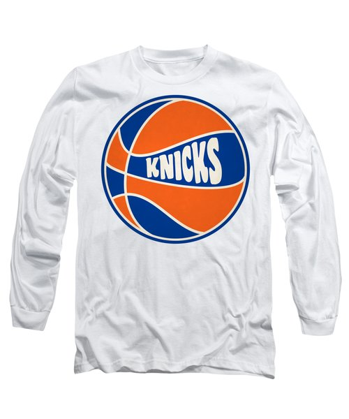 New York Knicks Retro Shirt Long Sleeve T-Shirt by Joe Hamilton