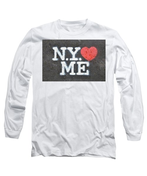 New York Loves Me Stencil Long Sleeve T-Shirt