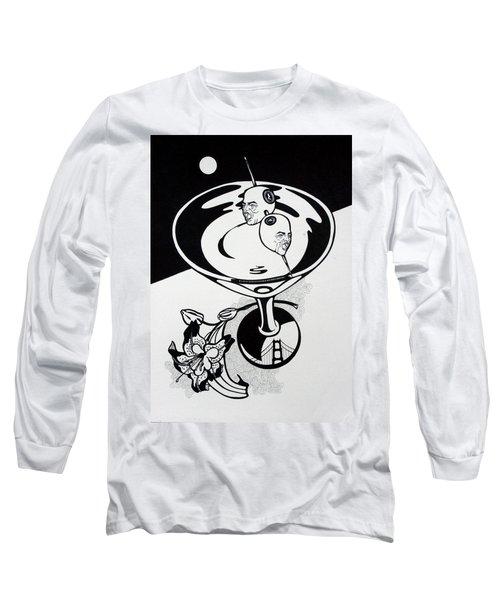 New York Martini Long Sleeve T-Shirt by Yelena Tylkina