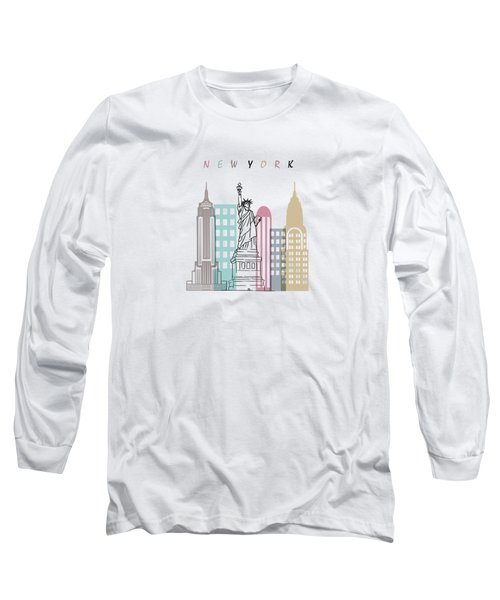 New York  Minimal  Long Sleeve T-Shirt by Mark Ashkenazi