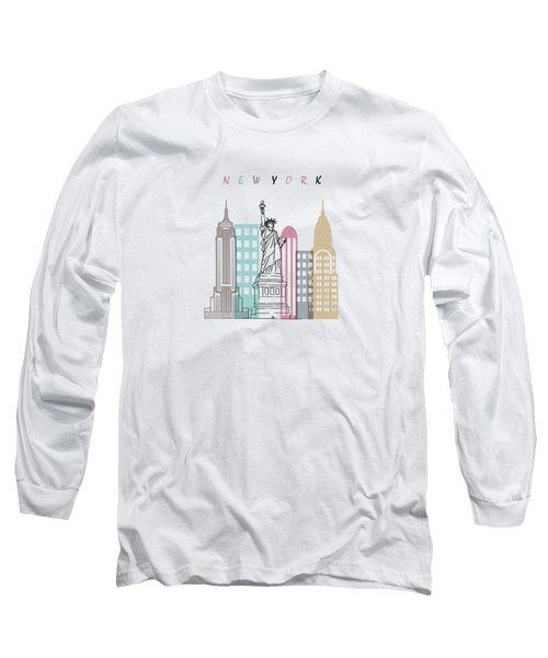 New York  Minimal  Long Sleeve T-Shirt