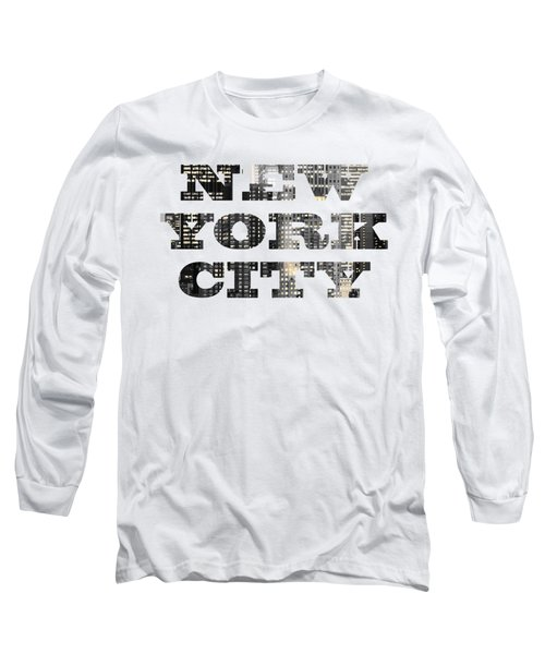 New York Shapes Tee 092717 Long Sleeve T-Shirt