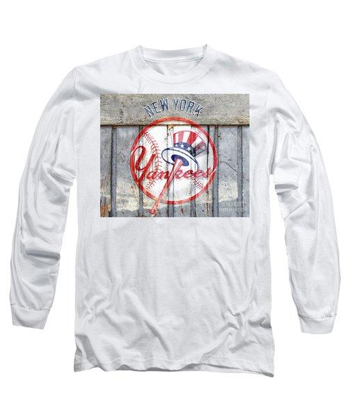 New York Yankees Top Hat Rustic Long Sleeve T-Shirt