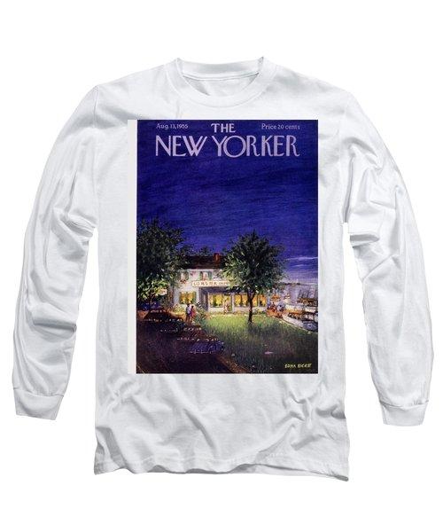 New Yorker August 13 1955 Long Sleeve T-Shirt