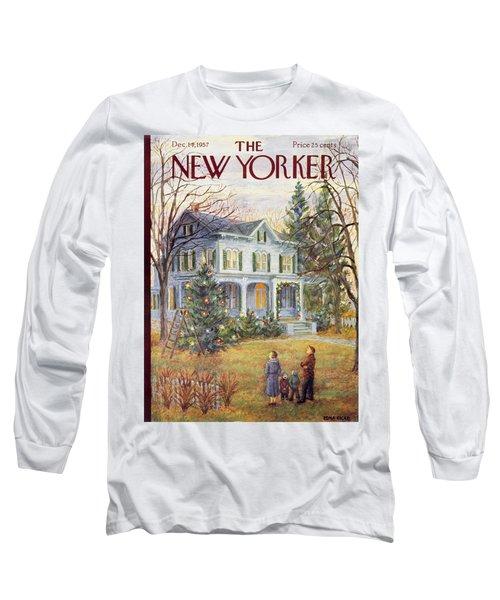 New Yorker December 14 1957 Long Sleeve T-Shirt