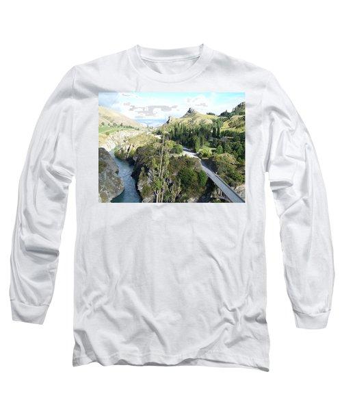 New Zealand Scene Long Sleeve T-Shirt by Constance DRESCHER