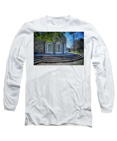 Newburgh Downing Park Shelter House Side View Long Sleeve T-Shirt