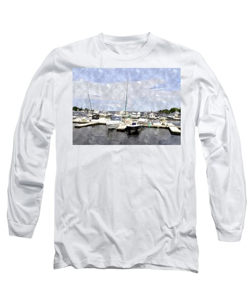 Newburyport Harbor Nhwc Long Sleeve T-Shirt by Jim Brage