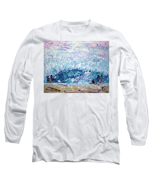 Long Sleeve T-Shirt featuring the painting Newport Wedge by William Love