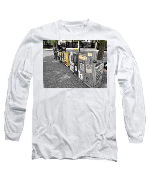 Newspaper Boxes Long Sleeve T-Shirt