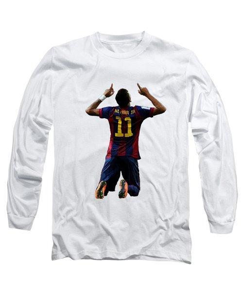Neymar Long Sleeve T-Shirt by Armaan Sandhu