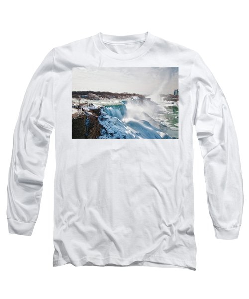 Long Sleeve T-Shirt featuring the photograph Niagara Falls 4589 by Guy Whiteley